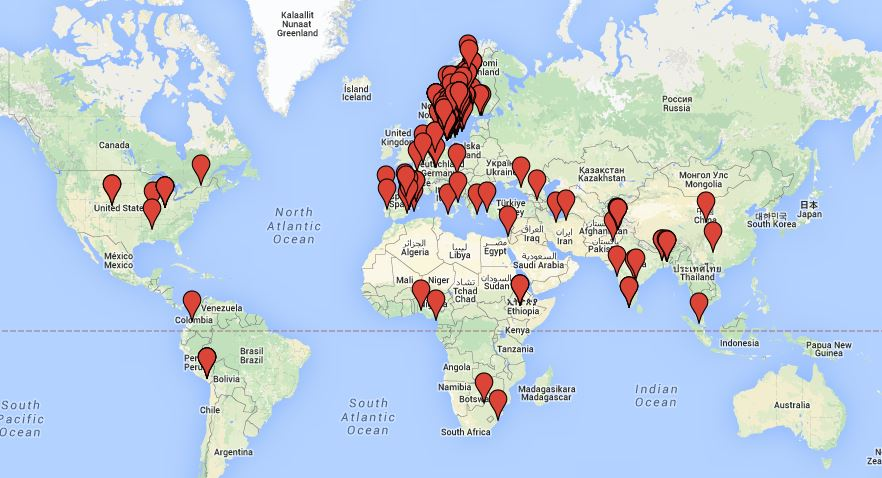 karta i hela världen Alumn   Högskolan i Gävle karta i hela världen