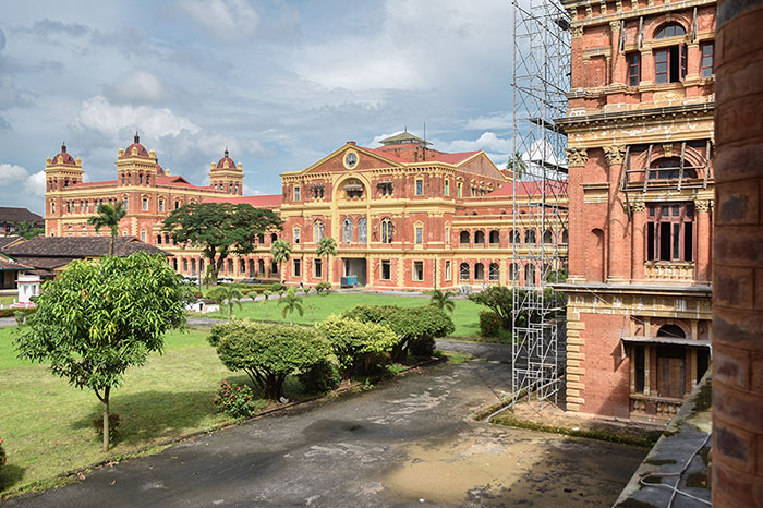 The Secretariat, Rangoon, was once a centre for the British colonial administration in Burma.
