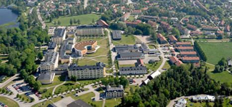 Flygbild över Campusområdet